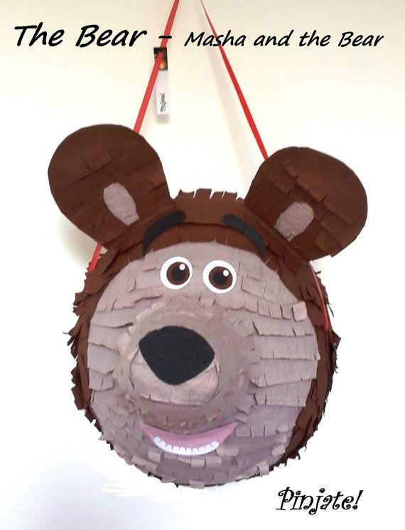 THE BEAR Masha and the Bear pinata birthday por PinjateNoviSad Ideas cumpleaños icha Masha