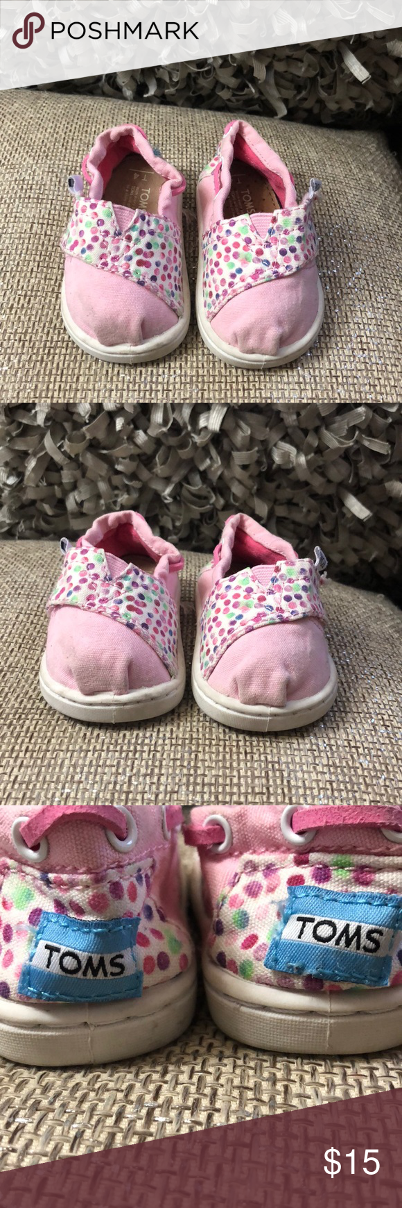 Baby Girl Toms Size 4c