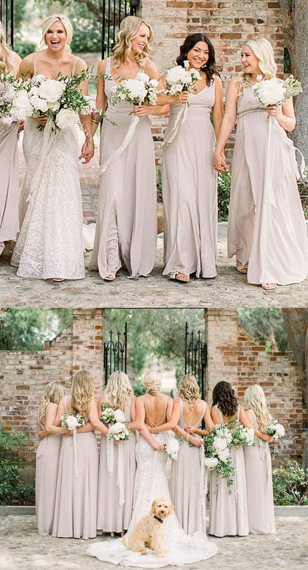 Cheap vneck chiffon aline backless simple floorlength bridesmaid