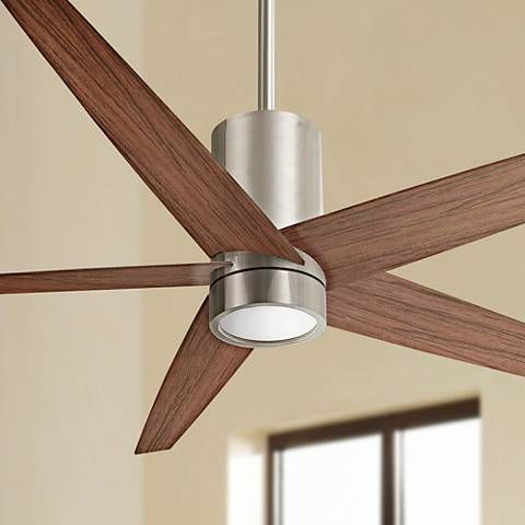 56 minka aire symbio walnut nickel led ceiling fan 8p022 56 minka aire symbio walnut nickel led ceiling fan aloadofball Image collections