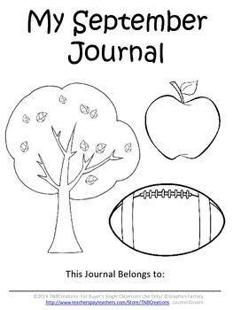 Monthly Journal Covers: These Journal Covers for all 12