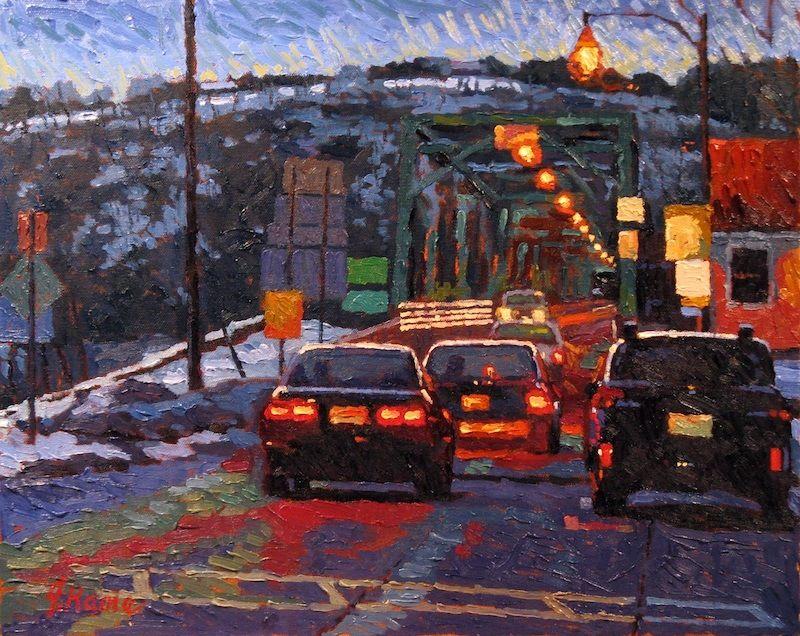 Silverman Gallery Impressionist Art - Evening Traffic - John Kane