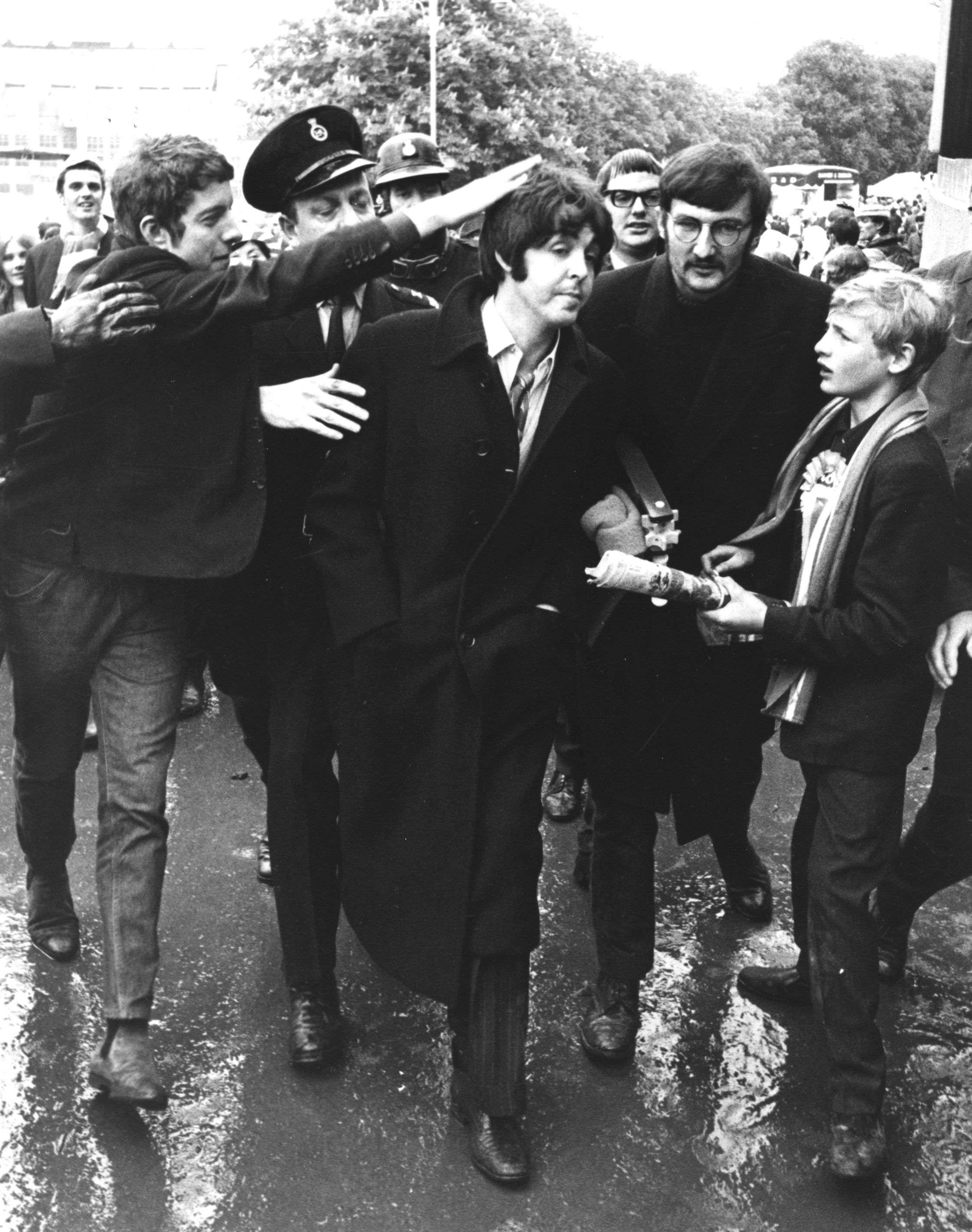 Paul McCartney Arriving At Wembley For The 1968 FA Cup Final Between Everton And West Bromwich Albion