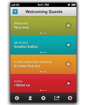 Vodafone offers free Maorilanguagelearning app