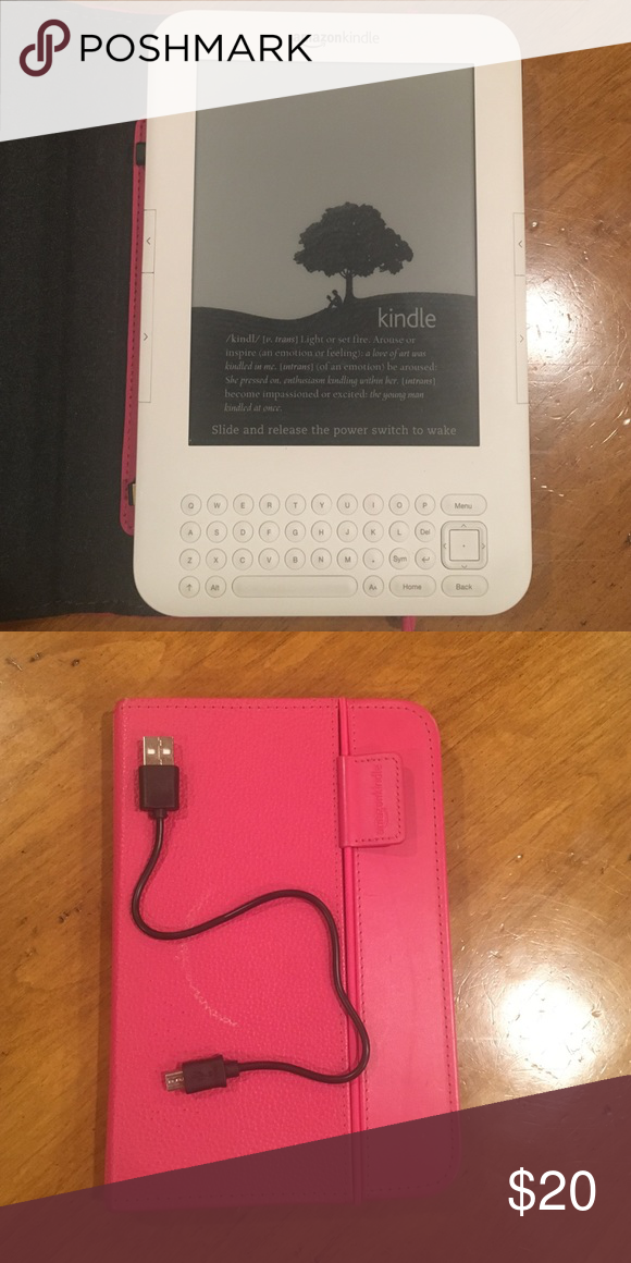 Amazon Kindle II with wifi and case Excellent condition Kindle Accessories Tablet Cases
