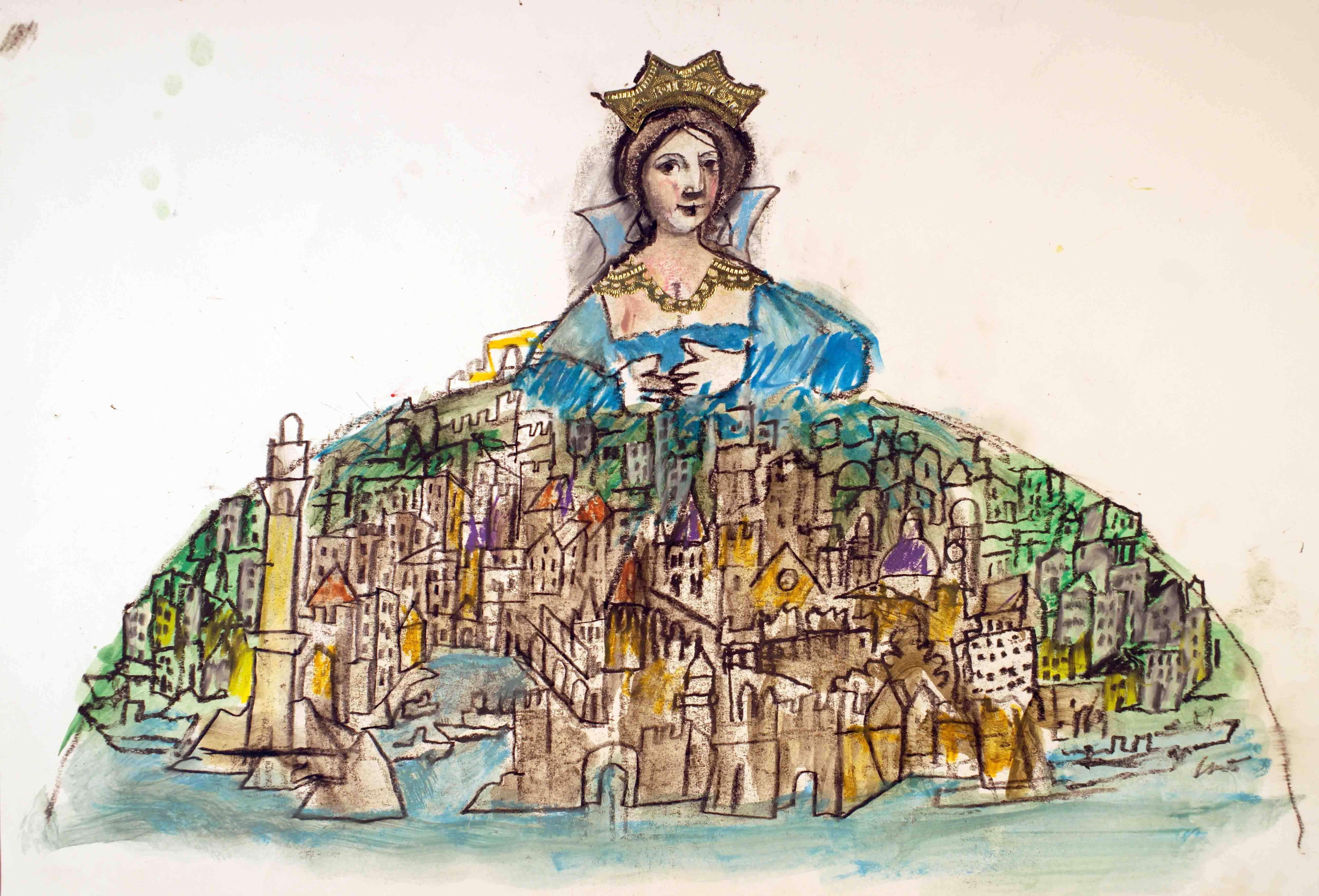 Genova Regina di Lele Luzzati Illustration art, Art, Art