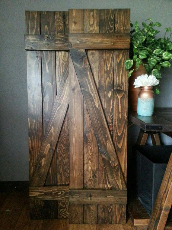 60 z bar rustic wood shutters wooden shutters for Indoor decorative shutters