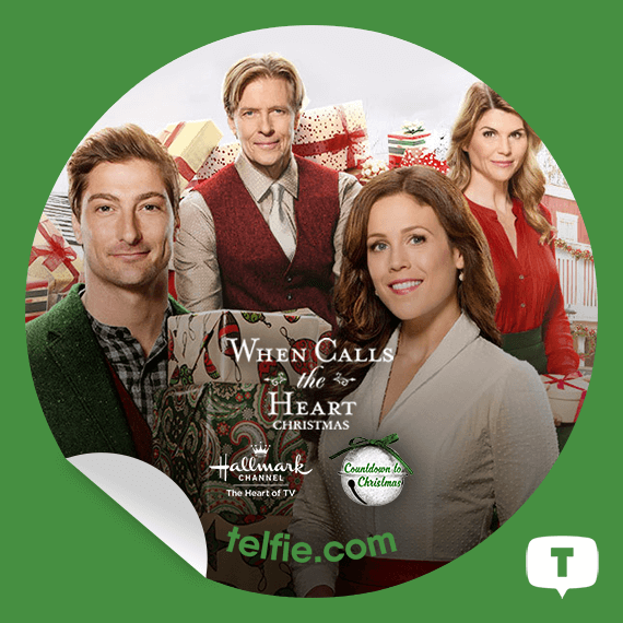 New Telfie App Sticker WhenCallstheHeartChristmas From