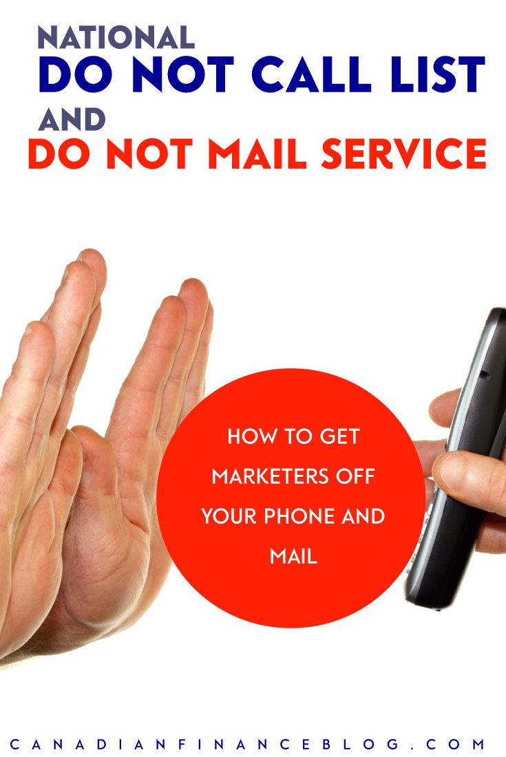 National Do Not Call List & Do Not Mail Service: Stop Cold