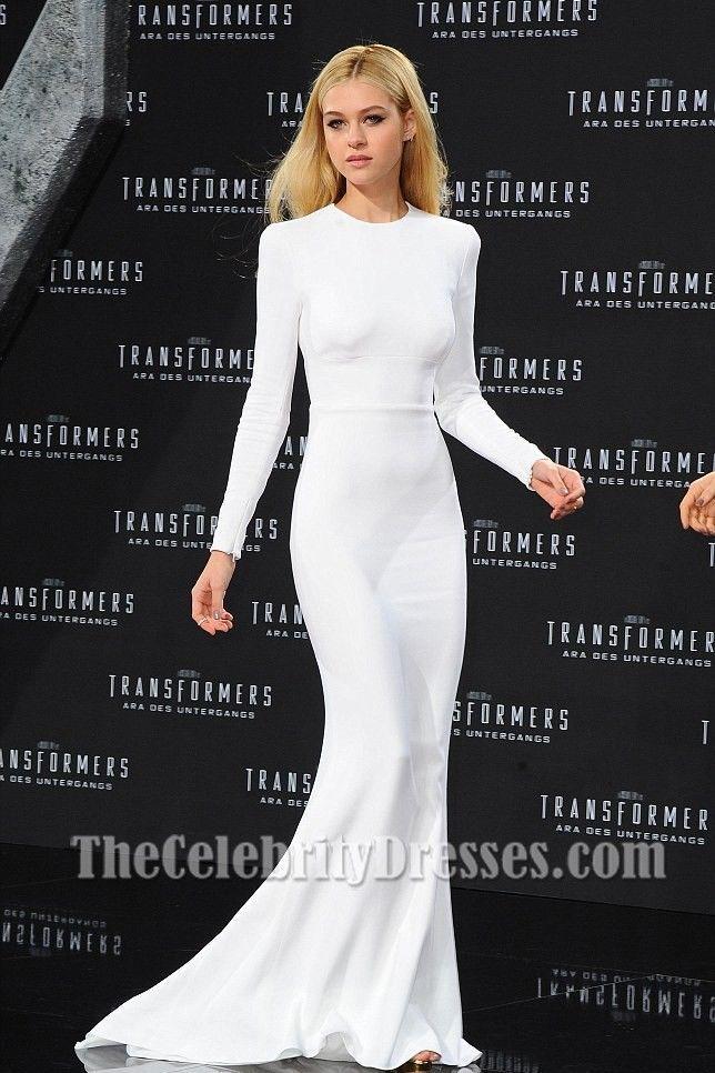 c1bd638483 White Backless Long Sleeves Celebrity Red Carpet Dress Formal Evening Gown  5689 #CELEBINSPIRATION #Sheath #Formal