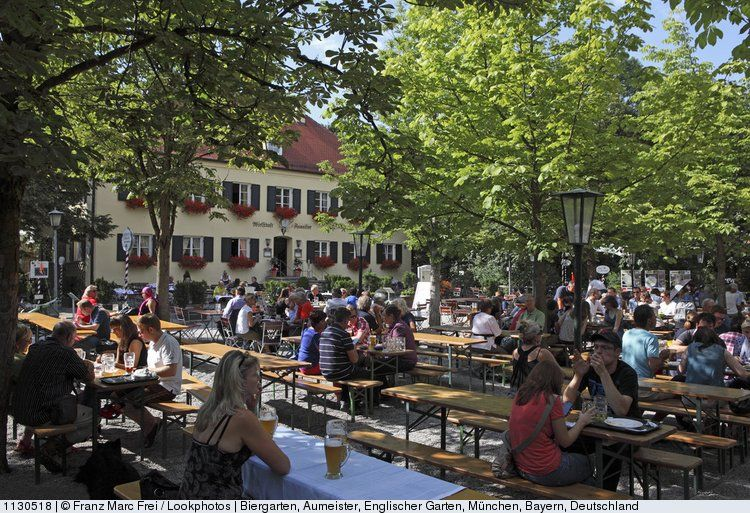 Beer Garden Aumeister In The English Garden Englischer Garten Munich Bavaria Germany Image The Originals Google Images
