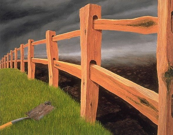 """Robert Bissell Fine Art """"The Edge of Time"""" was his first painting done with an animal(Mouse)"""