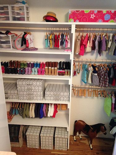 Making A Doll Clothes Closet with Dollar Store Items (Perfect For ...