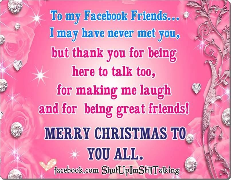 To My Facebook Friends Merry Christmas | CHRISTMAS MY FAVORITE TIME ...