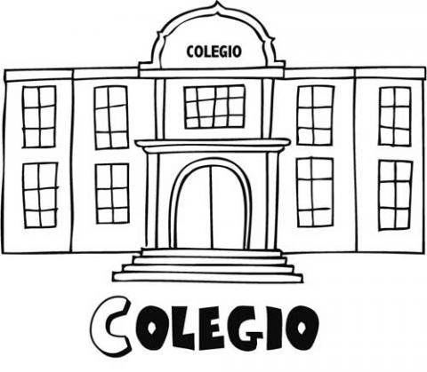 Dibujo Del Colegio Para Imprimir Y Pintar Imagenes De Escuelas Dibujo De Escuela Actividades De Pintura Para Ninos