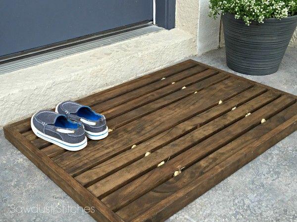 Wooden Doormat | Doormat, Front entry and Tutorials
