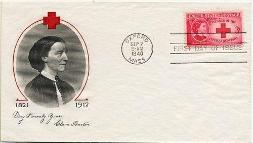 1948 Calara Barton - first day cover by Fulton