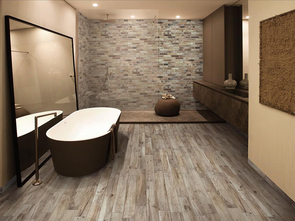 Industrieel modern warm en stoer met de brick generations behaalt u het allemaal prachtig in - Tegel badkamer hout ...