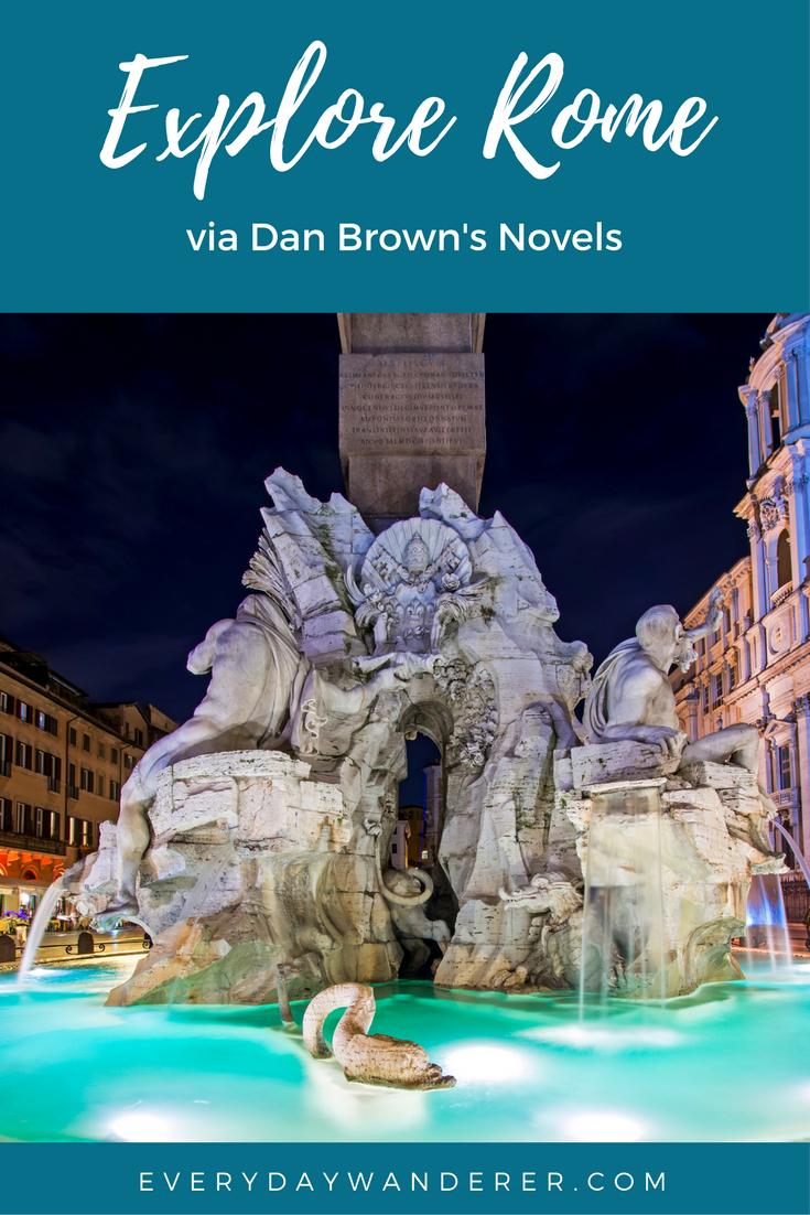 Explore Rome and 17 other destinations via Dan Brown's novels #davinci #italy #rome #read #danbrown