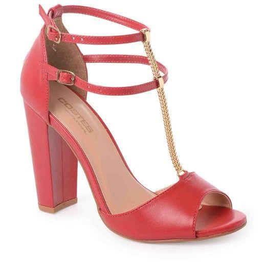 78f8100c2 Sandália Salto Alto Costes Rebeca | Mundial Calçados - MundialCalcados