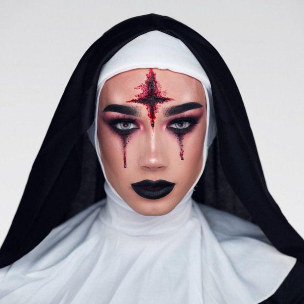 James Charles Halloween Nun makeup #makeupart #makeup #art #halloween