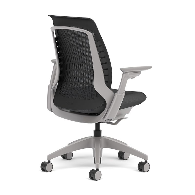 Fully Adjustable Office Chair allsteel mimeo chair shown in fog mesh with fully adjustable arms