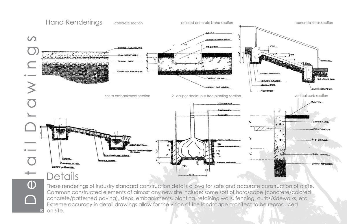 landscape construction detail drawings