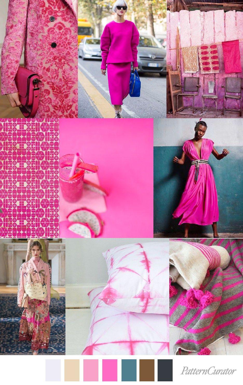 Color Trending Pink: DRAGONFRUIT PINK (pattern Curator)