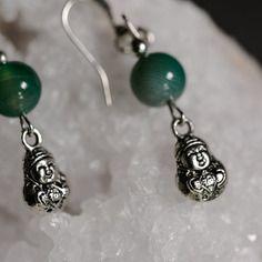 Boucles d'oreille bouddha et perle esprit zen