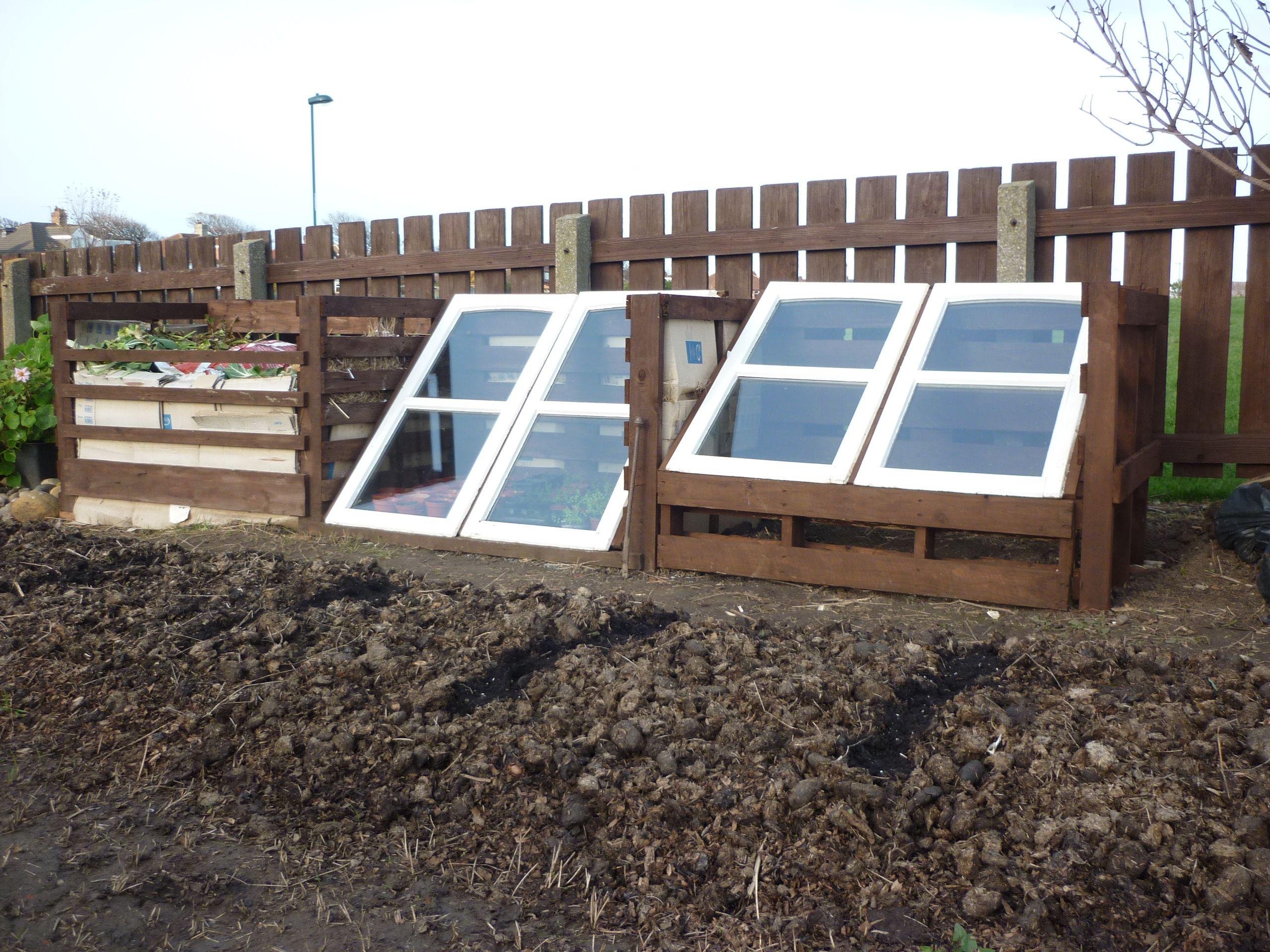 modular compost bin cold frame frame setup allotment