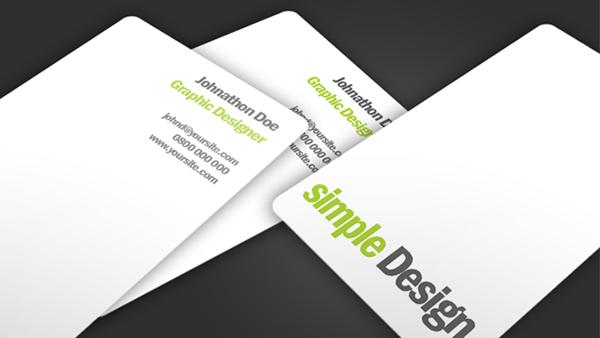 Simple design business card design pinterest business cards elegant minimalistic business card template psd freebie best free home design idea inspiration accmission Gallery