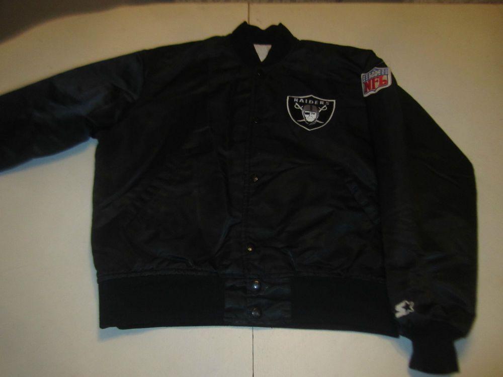 Vintage 80 S Oakland Raiders Satin Starter Jacket Sz Small Jackets Oakland Raiders Mens Jackets