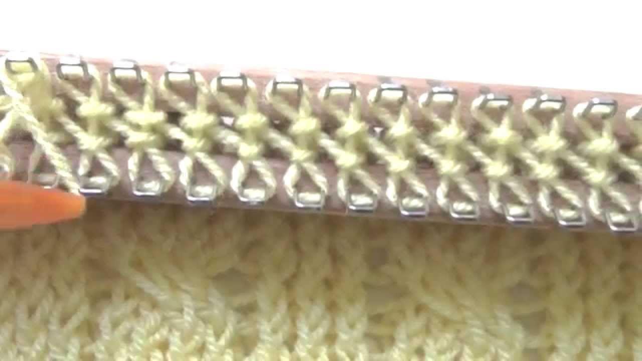 Turbo Strickstab / Strickrahmen #2 Zopfmuster | Loom Knitting QU11