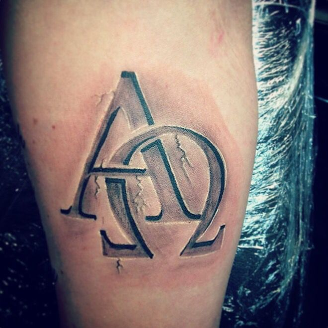 Alfa And Omega Done By At Tattoosbytate Visit The Shop