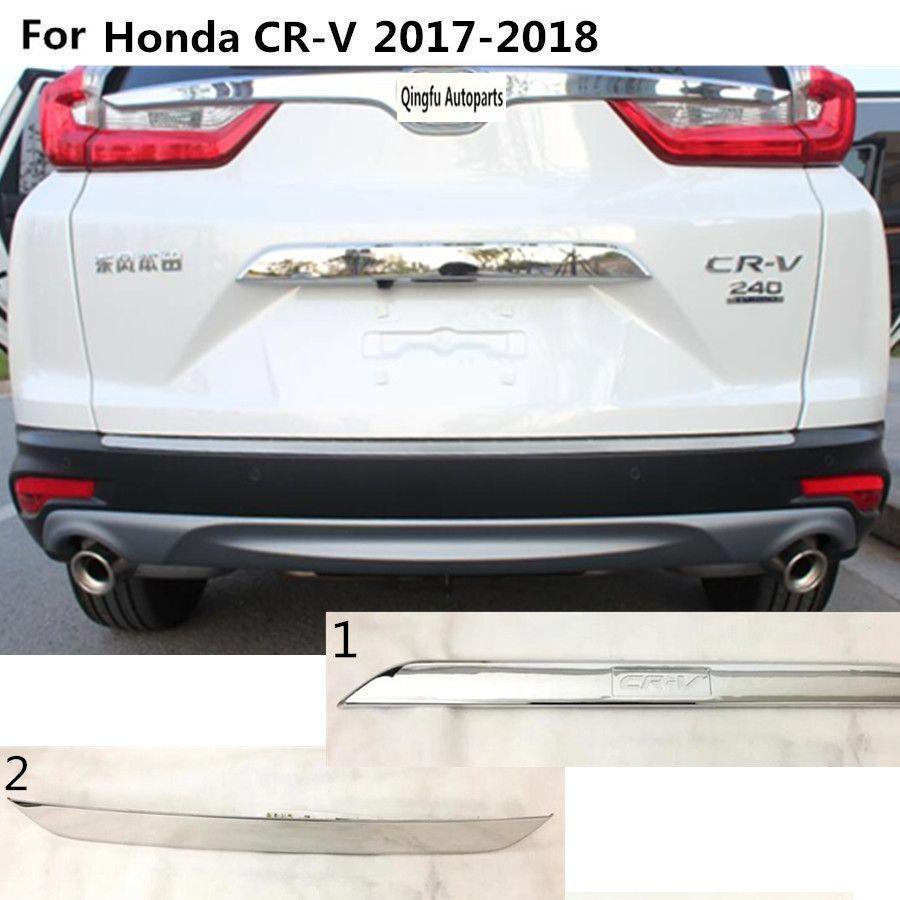 1Pc Chrome Car Exterior Trunk Tailgate Door Handle Cover Trim for Honda CRV
