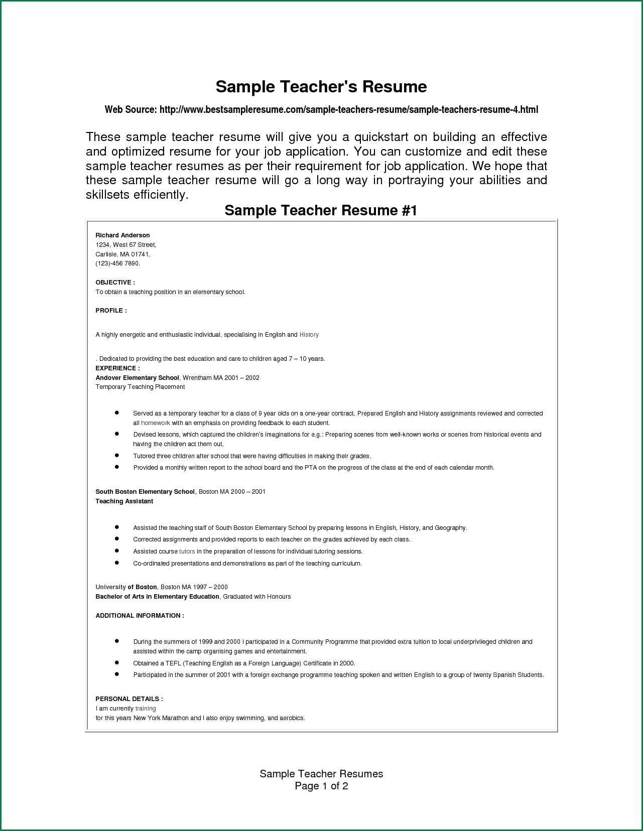 Esl Teacher Sample Resume Free General Release Liability Form