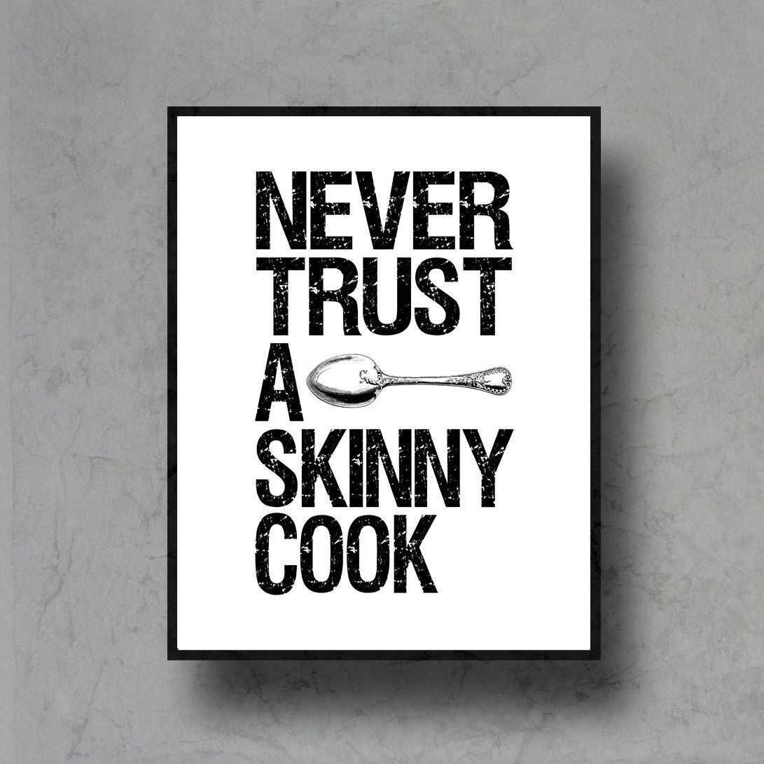 Black And White Kitchen Artwork: Typographic Art Spoon Print Quote Poster Inspirational