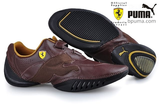 a17d33fa3e4 Cheap Puma hot sale Leather Ferrari Shoes Brown Outlet P1130 larger image
