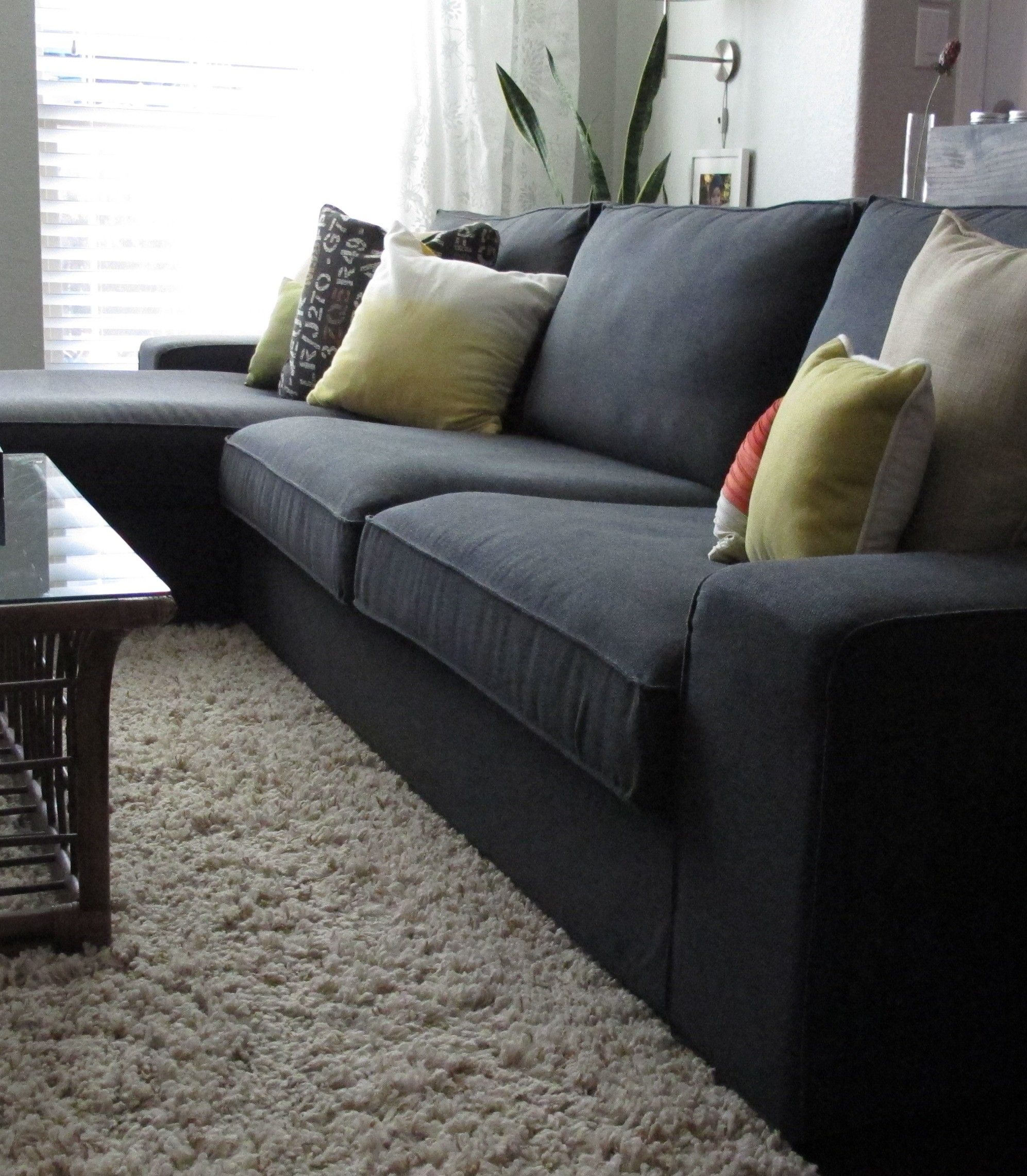 dark grey sofa cover ivory leather kivik dansbo gray ideas living room ikea