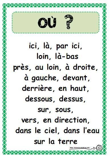 apprendre le francais debutant