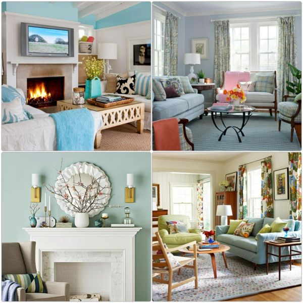 wandfarben gestalten minz grün wohnzimmer möbel | room style ...