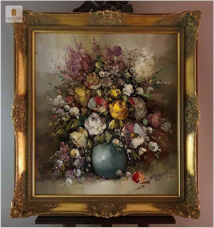 Wyjatkowy Kwiaty W Palacowej Ramie Otmar Lederer Munchen 1926 Floral Art Art Painting
