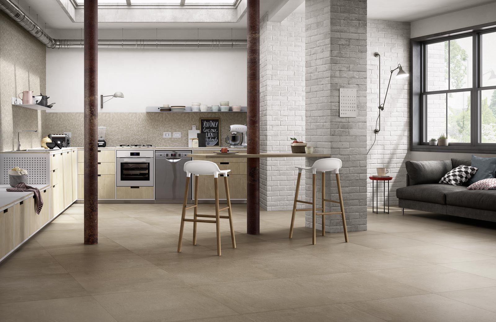 Feinsteinzeug Fliesen Küche | Ragno Studio Sabbia 60x60 Cm R4pv Feinsteinzeug Betonoptik