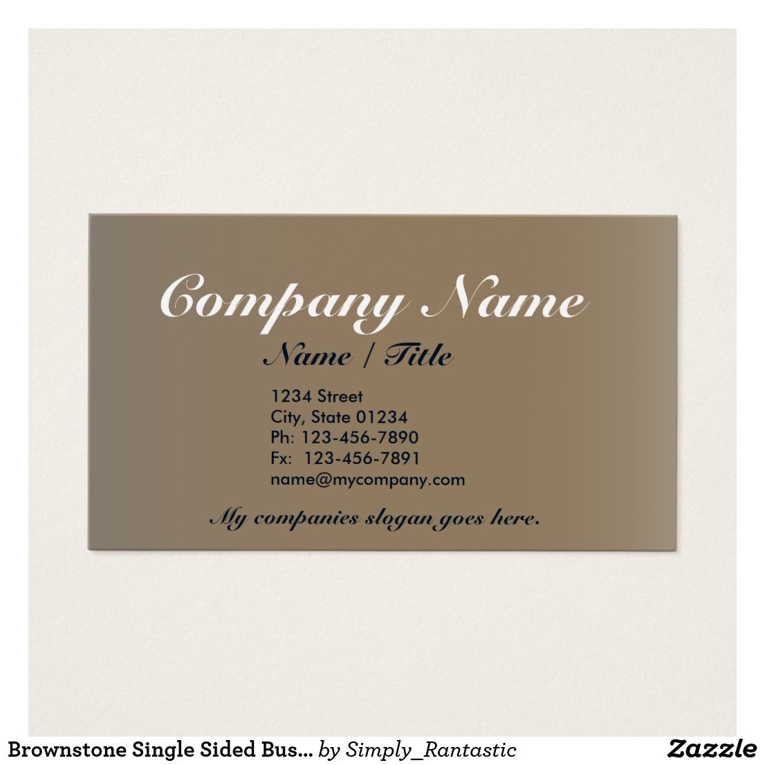 Brownstone single sided business card template v3 business cards brownstone single sided business card template v3 colourmoves