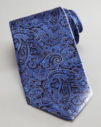 Paisley Tie, Blue by Stefano Ricci at Bergdorf Goodman.