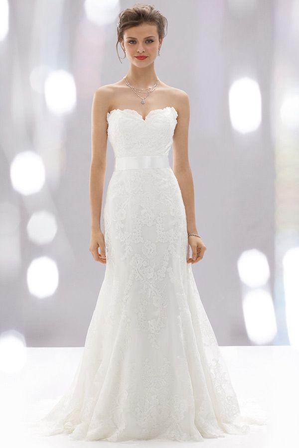 Herz Ausschnitt Spitze Brautkleid