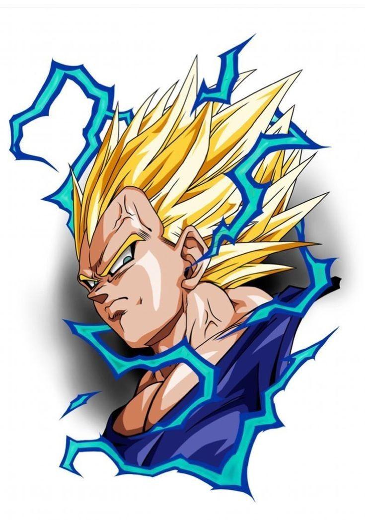Vegeta Super Saiyajin 2 Personajes De Dragon Ball Personajes De Goku Dibujo De Goku