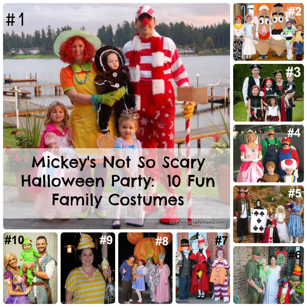 Mickeys Not So Scary Halloween Party 10 Fun Family Costumes