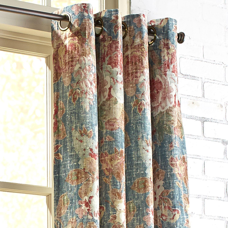 Amberley Velvet Blue 96 Grommet Curtain