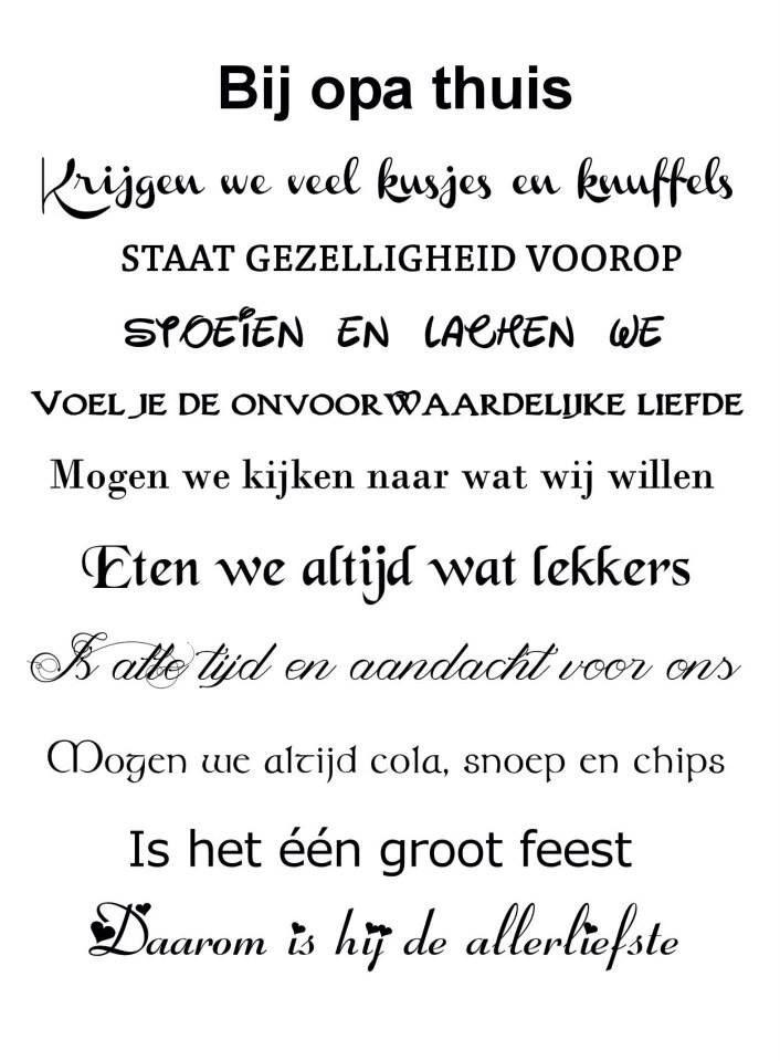 Bij opa thuis  Mooie teksten  Teksten Oma citaten Spreuken